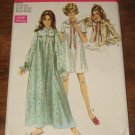 Vintage 1969 Simplicity Nightgown Sewing Pattern Sz 12/14 Bust 34/36