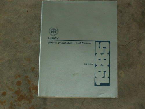 1985 CADILAC CIMARRON Shop Sevice Manual FREE SHIP