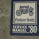 1980 FISHER BODY Service Manual FREE SHIIPPING