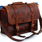 Unisex Leather Bag for any specialty in Full Grain Leather - Mustang