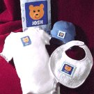 personalized baby boy clothing set with brown bear