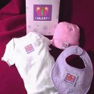 personalized baby girl clothing set with butterfly