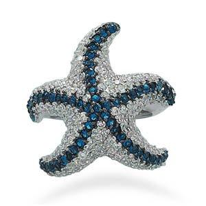 CZ Starfish Ring