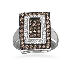 Chocolate and Clear CZ Ring