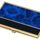 Business Card Case Blue Marble