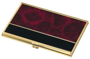 Business Card Case Wine Marble
