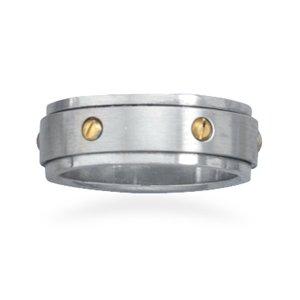 14 Karat Gold Plated Spin Ring