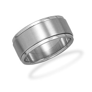 9mm Stainless Steel Spin Ring