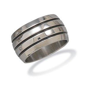 12mm Stainless Steel Men's Ring