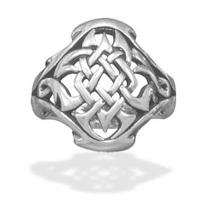 Oxidized Celtic Design Ring