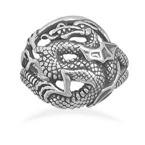 Oxidized Dragon Ring