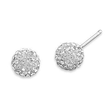Clear Crystal Ball Earrings