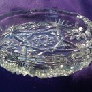 Ash Tray, Heavy Clear Glass