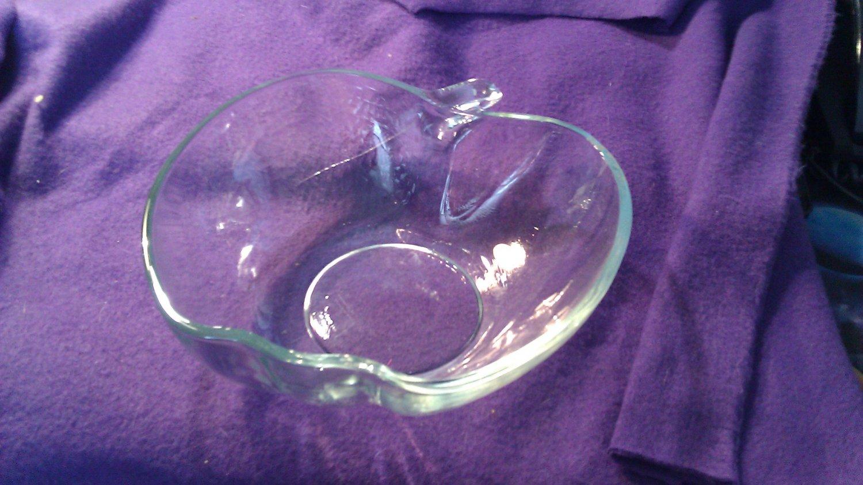 Clear Apple Fruit Bowl