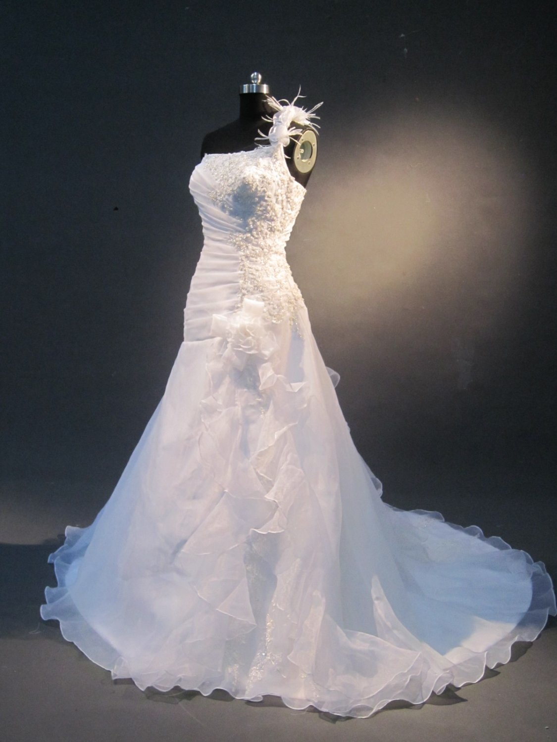 new collection embroidery organza wedding dress IMG1626