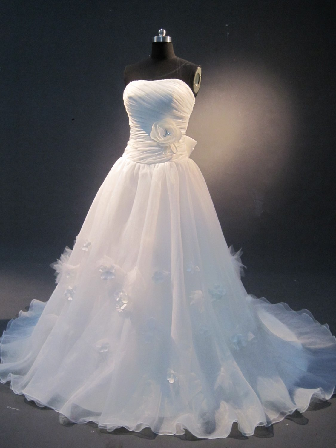 real sample feathers beautiful ball gown IMG1643