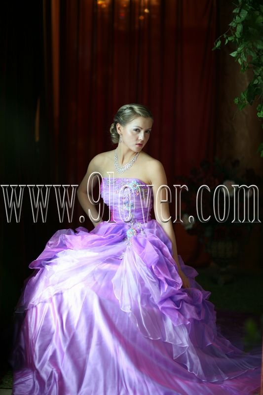 2013 Gorgeous Purple Strapless Quinceanera Gown 9loverQ0001