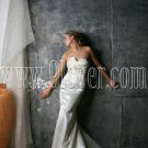 2012 V-Neck Ruche Slim-line simple wedding dress 9lover0004
