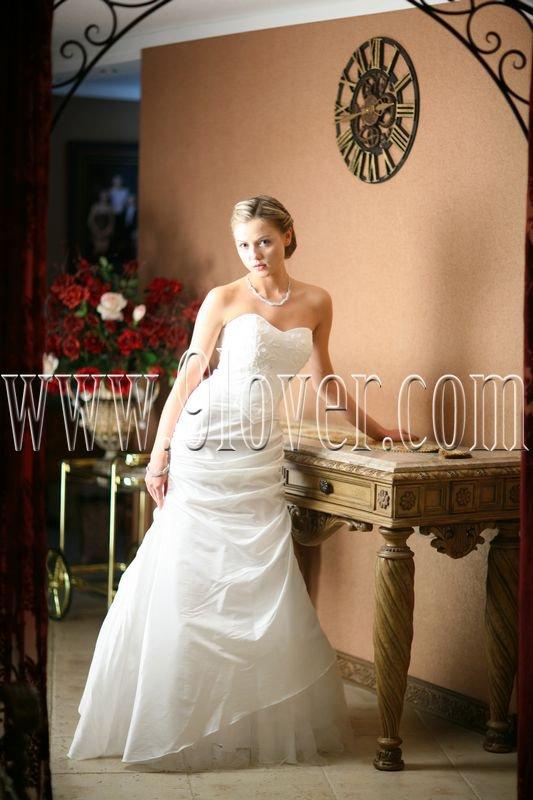 2012 strapless Glamorous White wedding dress 9lover0007