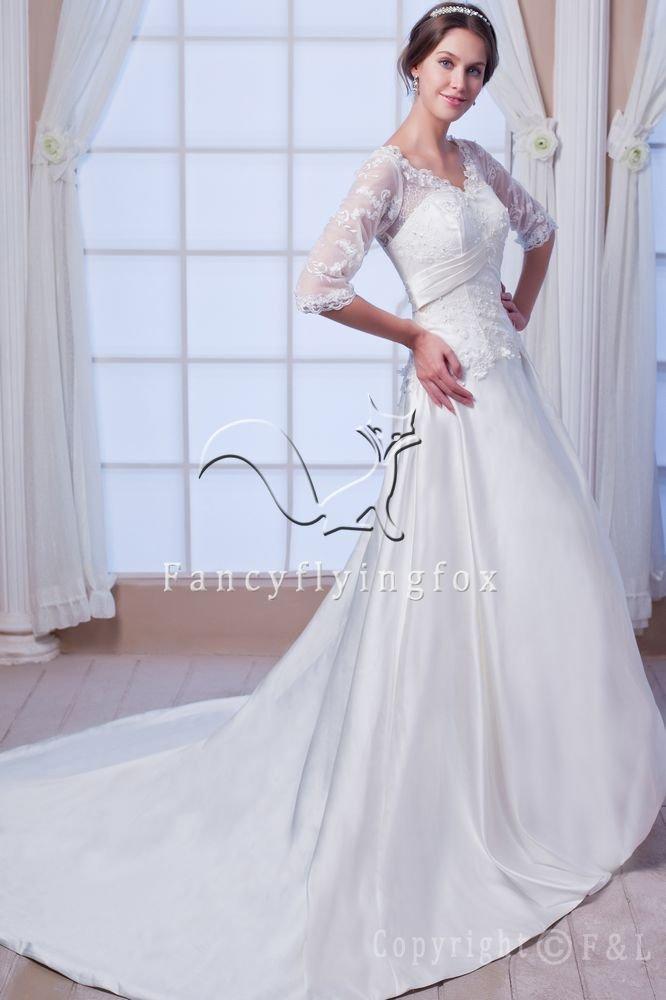 2011 Lace Long Sleeves Wedding Dress AA2175