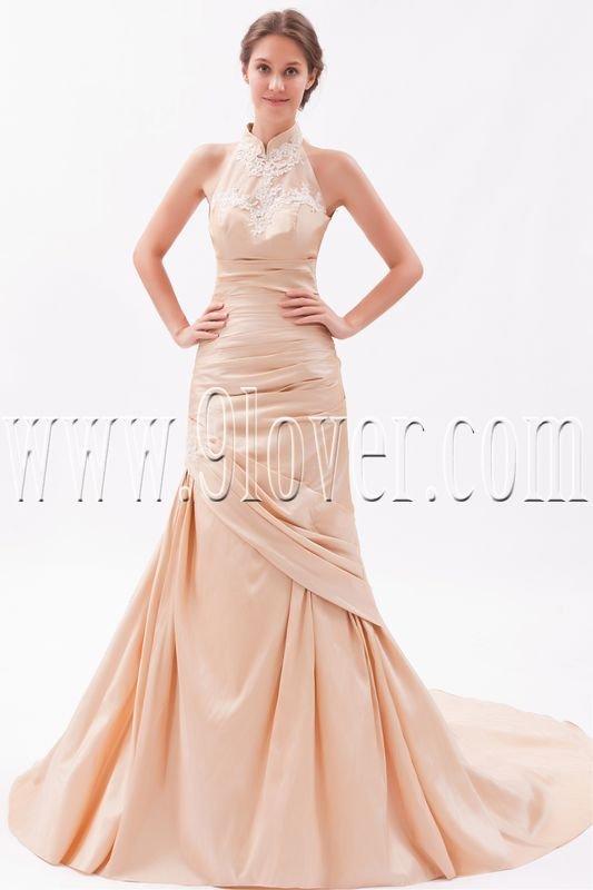 Fantastic High Neckline Strapless 2011 Wedding Dress 63428