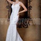 Modern Lace V-Neckline Column Bridals Gown 1401