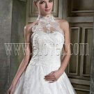 Lace High Neckline Modest Bridal Gown IMG-9732
