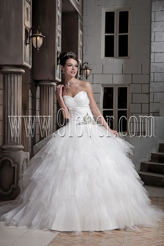 Romantic Puffy Cinderella Wedding Gown VW351135