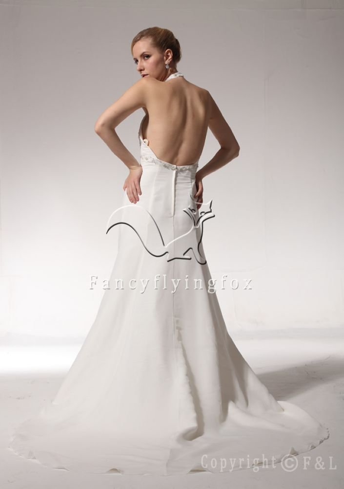 Sexy Halter Open Back Summer Bridal Gown Style WG3263