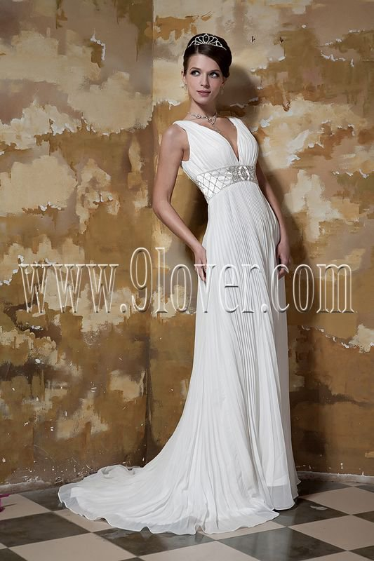 2011 V-Neckline Empire Bridal Gown 231M10050