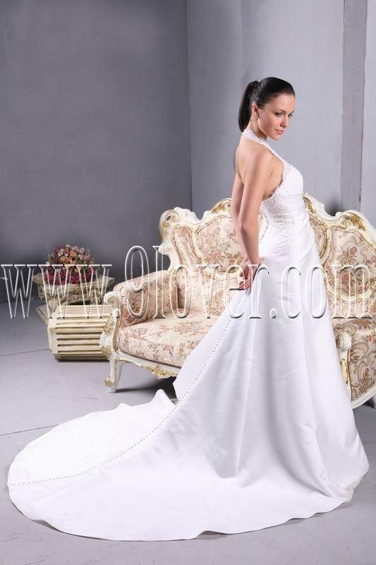 2011 halter wedding dress SAS1203 elegant wedding gown