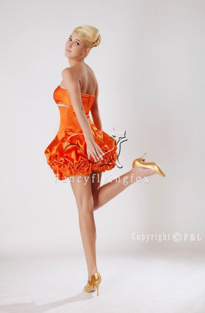 Orange Mini Plus Size Prom Dresses 6500WF
