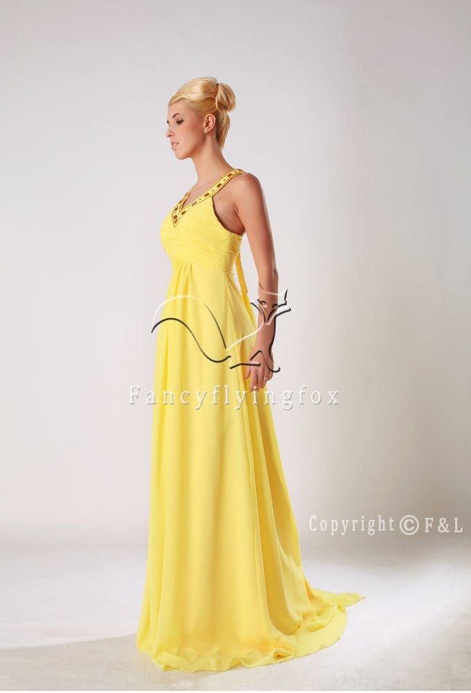 Yellow Plus Size Prom Gown Dress 6509W