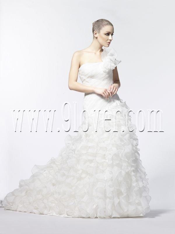 One Shoulder Elegant Plus Size Wedding Dress 2234W