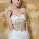 Feather Tea-length Prom Dress 3375