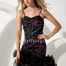 Black High-Low Hem Pageant Dress 78545A