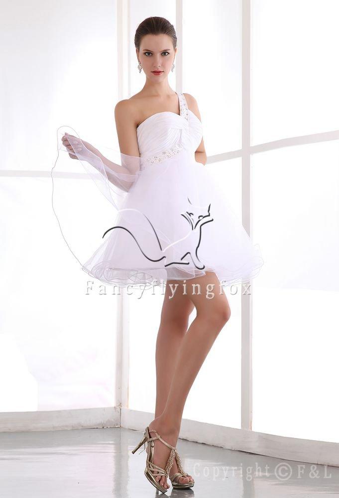 Sexy White Mini Length Evening Dress 78387A