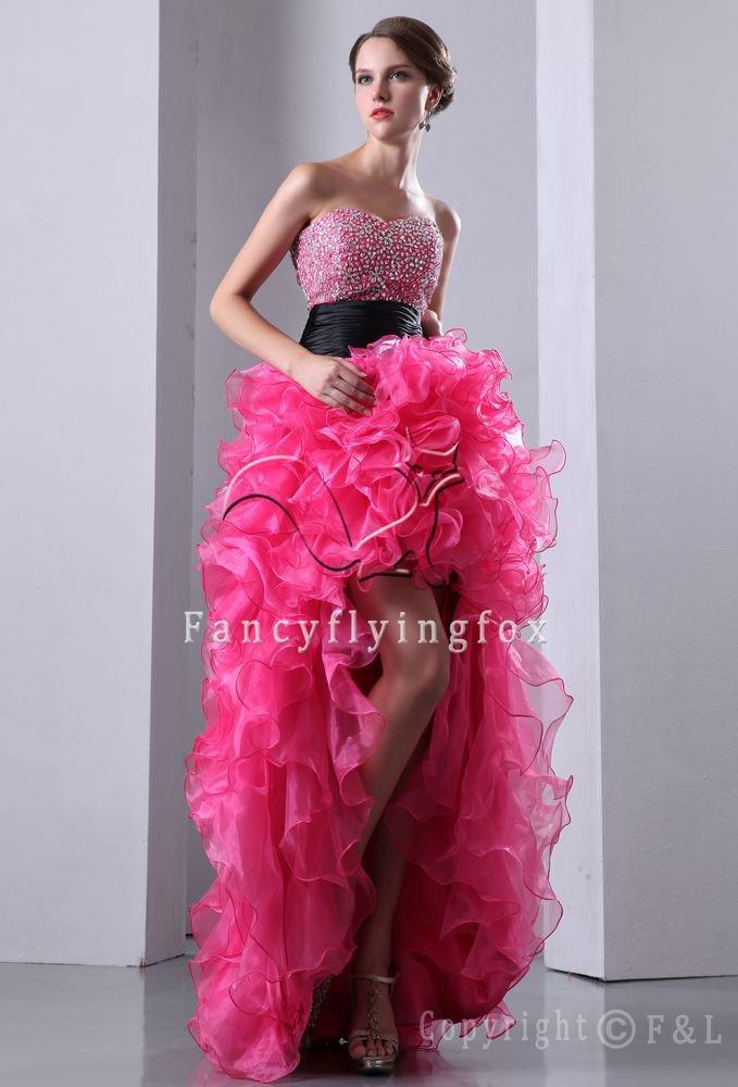 Hot Pink Engagement Evening Dress 1005