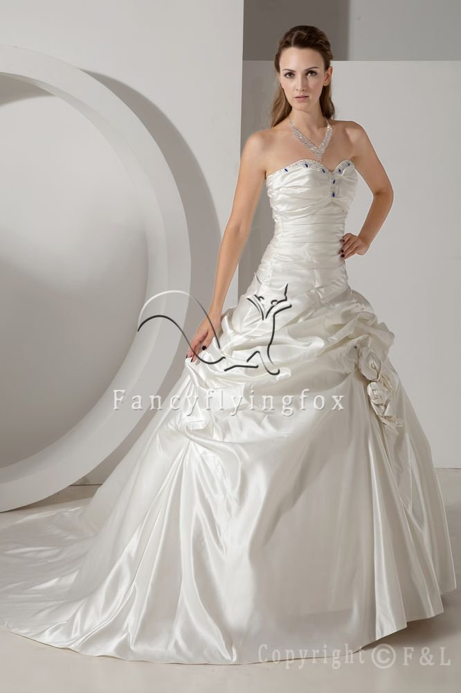 Strapless 2013 Fit and Flare Wedding Dresses IMG_1152