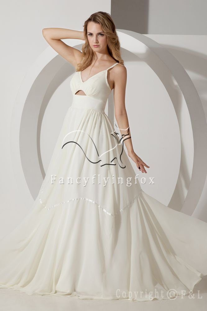 Spaghetti Floor Length Keyhole 2013 Bridal Gown IMG_1290