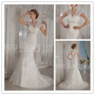 Charming and vintage 2013 v-neck mermaid wedding dress with brush train IMG-9111