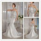 elegant 2013 sweetehart ivory satin sweetheart mermaid wedding dress with beaded bodice IMG-9126