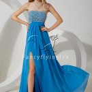 sexy strapless a-line floor length evening dress with beaded bust IMG-1538