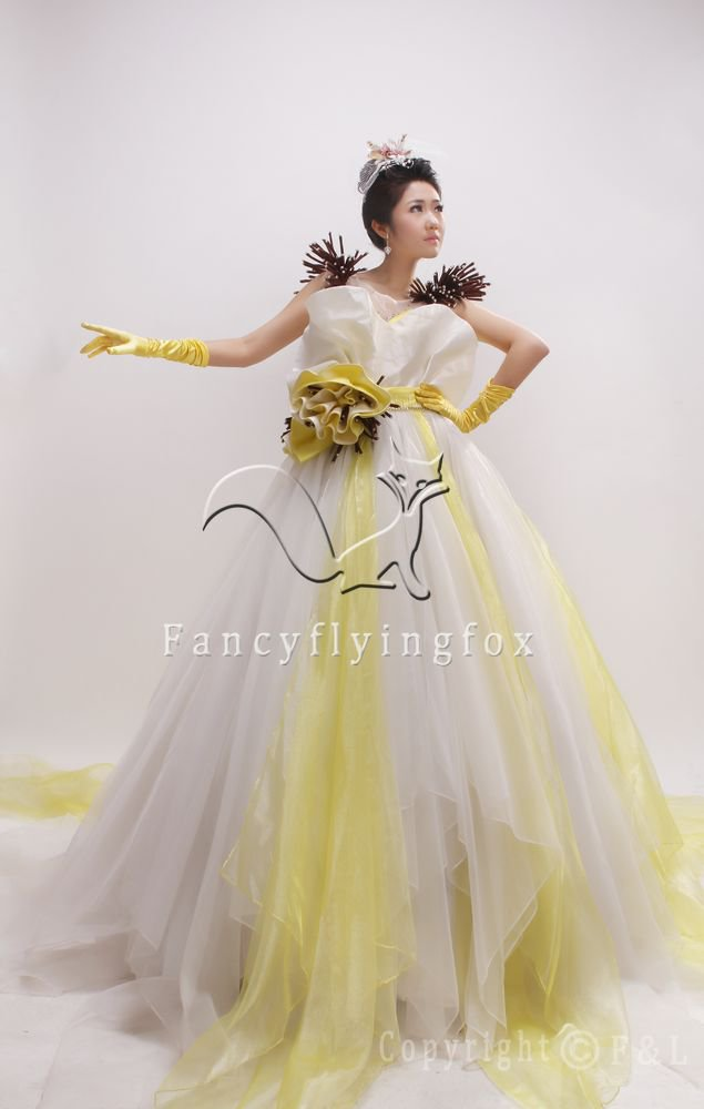 beautiful coloful net ball gown floor length quinceanera dress with flower 2011Y-2