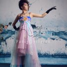 modern colorful spaghetti straps a-line floor length prom dress 2011Y-345