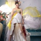 modern colorful strapless a-line knee length prom dress 2011Y-356