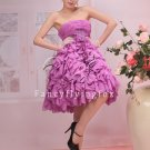 charming lavender chiffon ruffled skirt homecoming dress 370