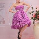 charming lavender chiffon ruffled skirt homecoming dress 370