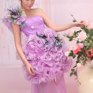 charming lavender tulle one shoulder ball gown mini length homecoming dress 378