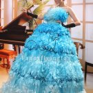 luxurious ice blue strapless ball gown floor length quinceanera dress 28010